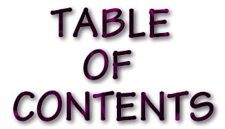 I Love You God.com ... The Table of Contents